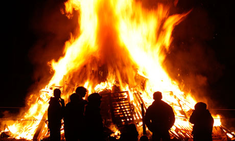 Halloween Fun Fact: During the pre-Halloween celebration of Samhain, bonfires were lit to ensure the sun would return after the long, hard winter. Often Druid priests would throw the bones of cattle into the flames and, hence,