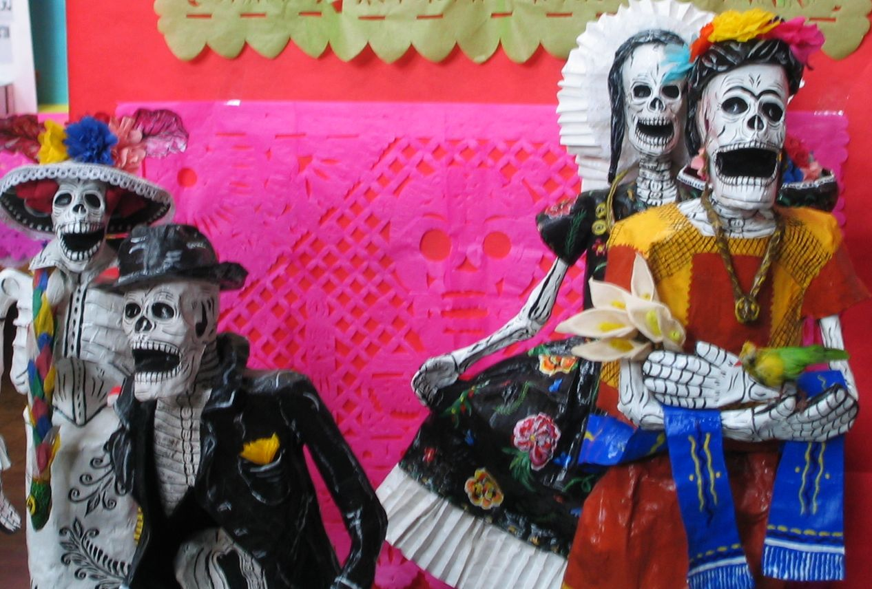 Halloween Fun Fact: Mexico celebrates the Days of the Dead (D�as de los Muertos) on the Christian holidays All Saints� Day (November 1) and All Souls� Day (November 2) instead of Halloween. The townspeople dress up like ghouls and parade down the street.