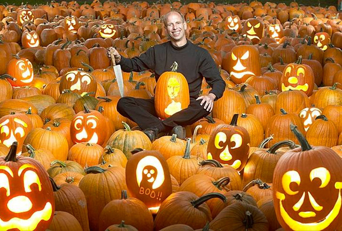 Halloween Fun Fact: Stephen Clarke holds the record for the world�s fastest pumpkin carving time: 24.03 seconds, smashing his previous record of 54.72 seconds. The rules of the competition state that the pumpkin must weigh less than 24 pounds and be carved in a traditional way, which requires at least eyes, nose, ears, and a mouth.