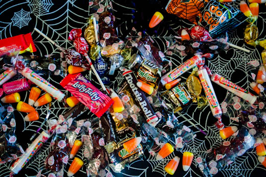 Halloween Fun Fact: Halloween can give you diarrhea.  Seriously.  Consuming too much candy with fructose and sorbitol can give you rhea.