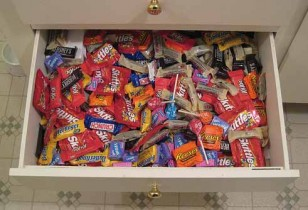 Halloween Fun Fact: Have leftover candy?  Save it!  Hard candy lasts for a year, while chocolate can last up to two.