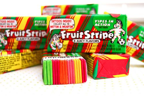 Halloween Fun Fact: Fruit Stripe's zebra mascot is named Yipes.
