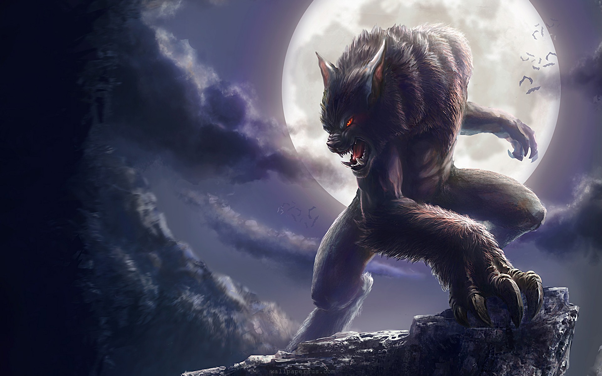 Halloween Fun Fact: Signs of a werewolf are a unibrow, hair palms, tattoos, and a long middle finger.