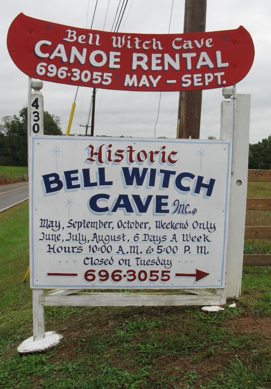 Halloween Fun Fact: The Bell Witch Cave is one of the most active haunted spots in America according to American Ghost Society.