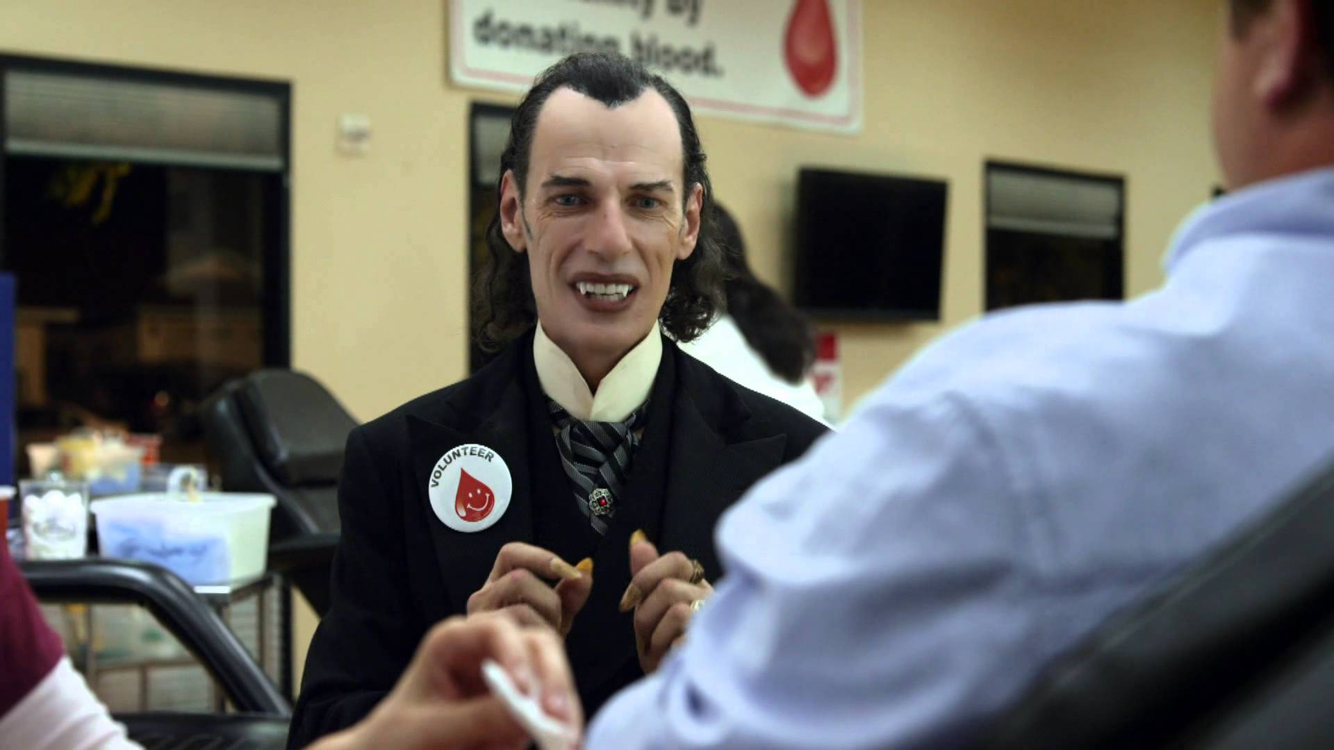 Halloween Fun Fact: Vampires are mythical beings who defy death by sucking the blood of humans.