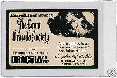 Halloween Fun Fact: In 1962, The Count Dracula Society was founded by Dr. Donald A. Reed.