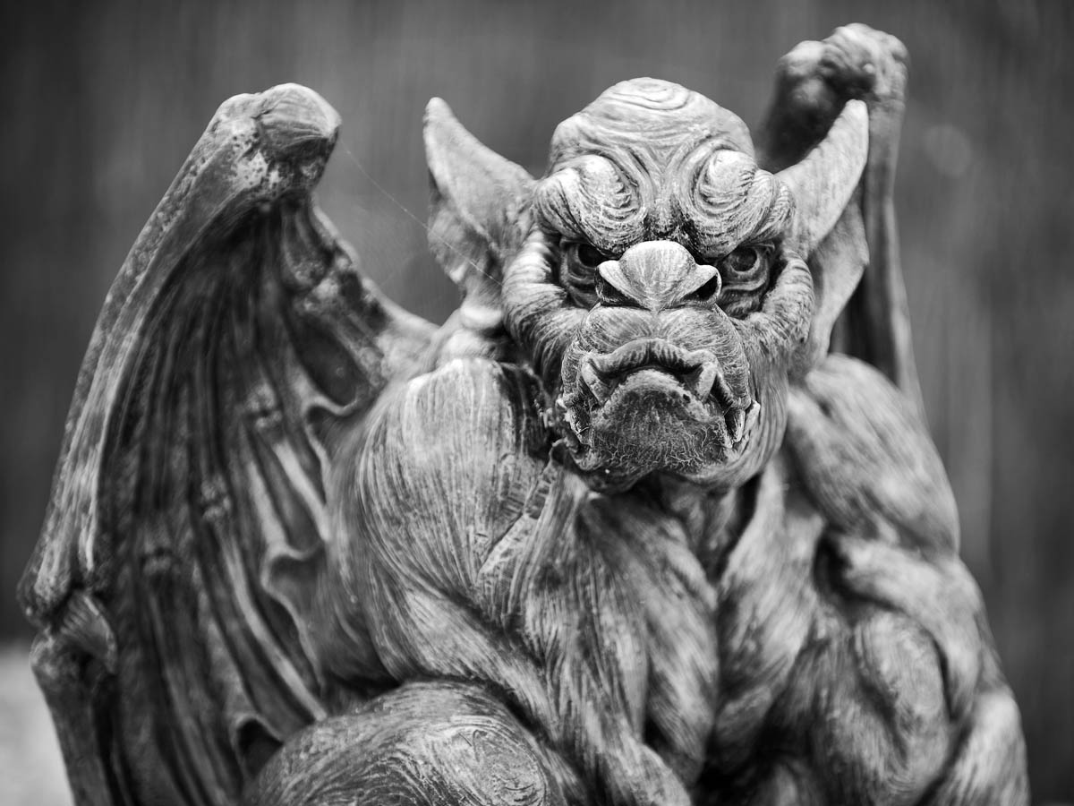 Halloween Fun Fact: Many people still believe that gargoyles were created by medieval architects and stone carvers to ward off evil spirits.